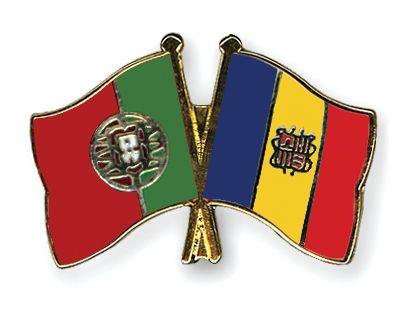 Crossed Flag Pins Portugal-Andorra Flags