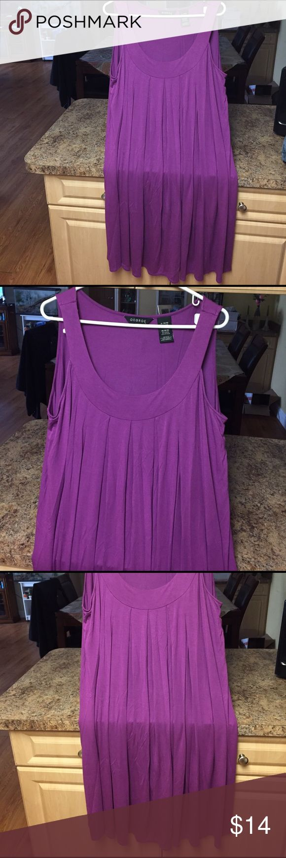 BRAND NEW SLEEVELESS PURPLE SUNDRESS ROUNDED NECK AWESOME COLOR FOR THE NEW SEASON VERY FLOWY ,VERY SOFT George Dresses Midi