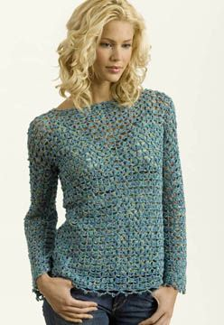 """Muse Crochet Tunic Free Pattern with long sleeves. Skill Level: Easy SIZES X-Small (Small, Medium, Large, X-Large) FINISHED MEASUREMENTS Bust 33 (36, 39, 42, 45)""""/ 84 (91.5, 99, 106.5, 114.5) cm Back length 24 (25, 25, 26, 26)""""/ 61 (63.5, 63.5, 66, 66) cm Sleeve length 17 (18, 18, 19, 19)""""/ 43 (45.5, 45.5, 48.5, 48.5) cm Pattern More Patterns Like This!"""