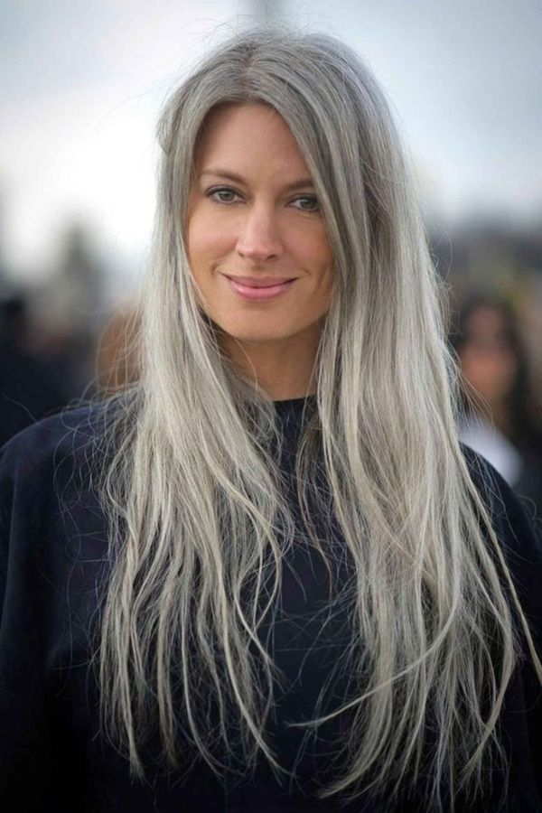 Long Grey Hairstyles Magnificent 28 Best White Hair Styles Images On Pinterest  Going Gray Grey