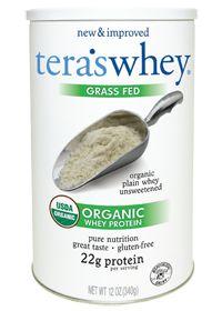 Tera's Whey Grass Fed Organic Whey Protein - Plain, 12.0 Ounces , Powder