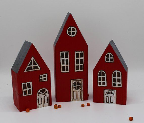 3 Small Houses Decoration Christmas Gift Sweden Houses Bar Houses