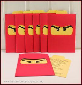 www.bestempelt.de: Einladungskarten für kleine Ninja´s
