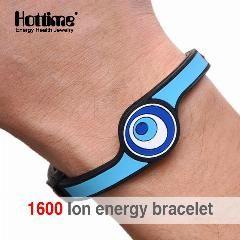 [ 41% OFF ] Hottime 1600 Ion Energy Eco Silicone Bracelet Hologram Bracelets Power Bands Balance Energy Wristband Silicone Bracelet For Men