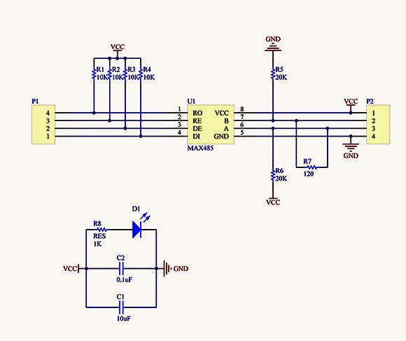 RS-485 Arduino Module (Top photo)