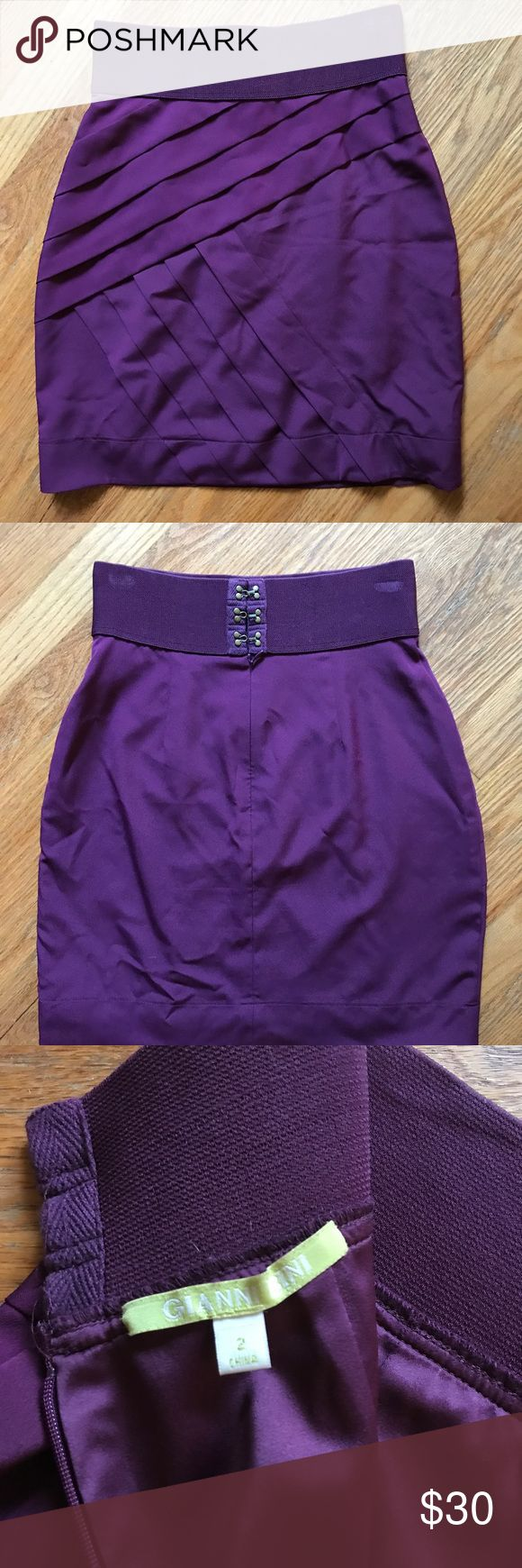 Deep purple pencil skirt Gianni bini pencil skirt. Extremely flattering. Skirts Pencil