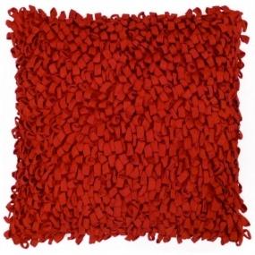 Sierkussen Belfast 45x45cm rood