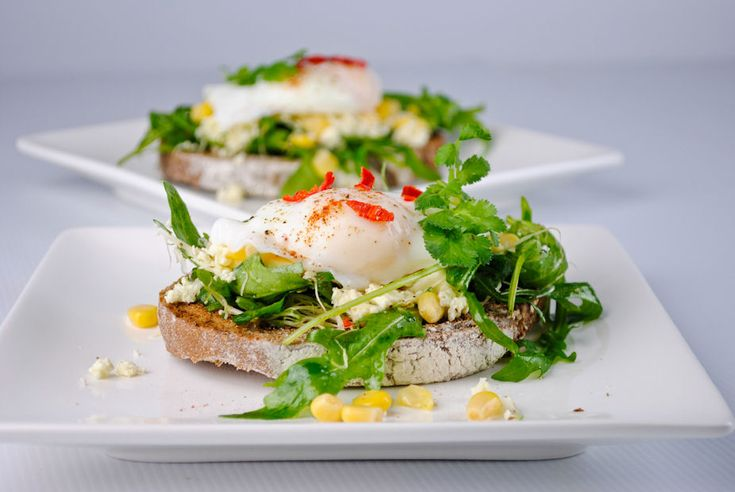 Goat cheese, arugula and poached egg open sandwichFeta Cheese, Open Sandwiches, Health Fitness, Breakfast, Eggs Open, Fall Recipe, Arugula, Food Recipe, Poached Eggs