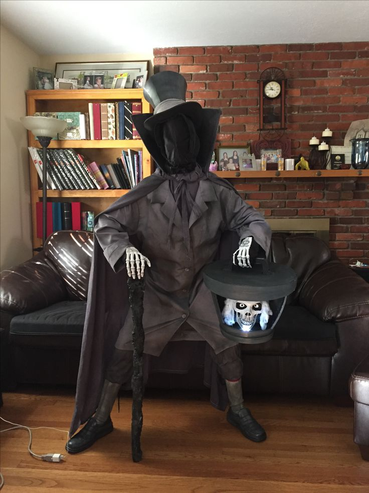 DIY Hatbox Ghost Costume I made for my son.