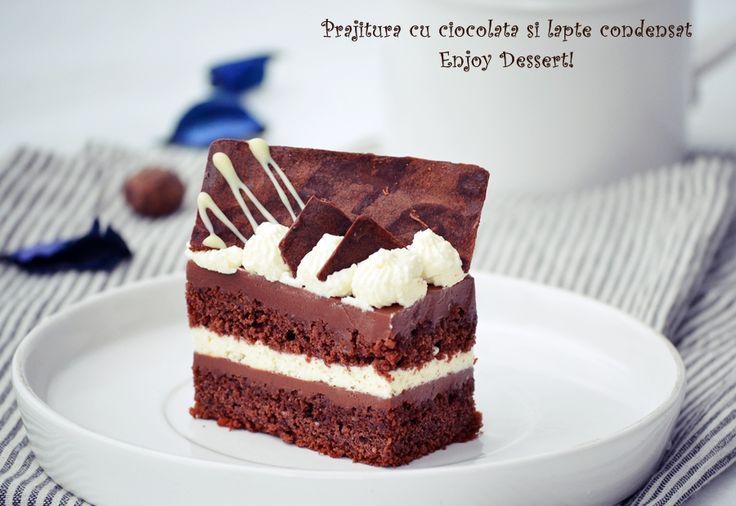 Prajitura cu ciocolata si lapte condensat