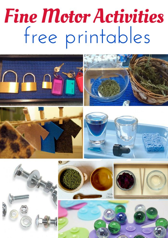 Montessori Nature: MONTESSORI FINE MOTOR ACTIVITIES AND FREE PRINTABLES