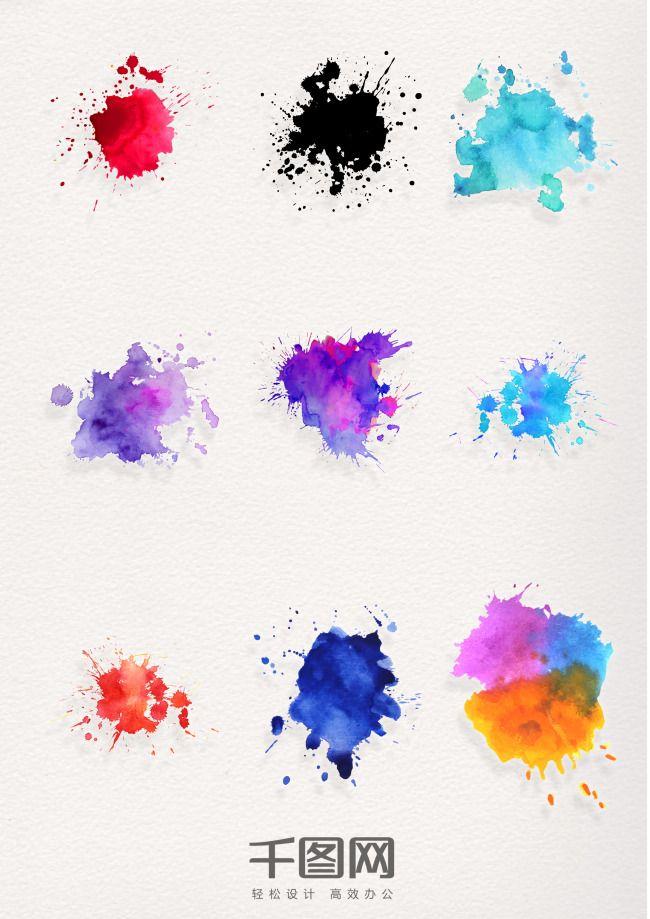 Color Ink Patterns Decorative Elements Abstract Artwork Ink Color
