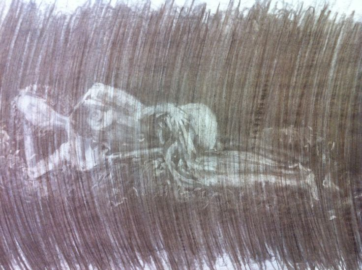 CHARCOAL DRAWING - A drawing of a nude model I made with charcoal. - www.madebysusan.com