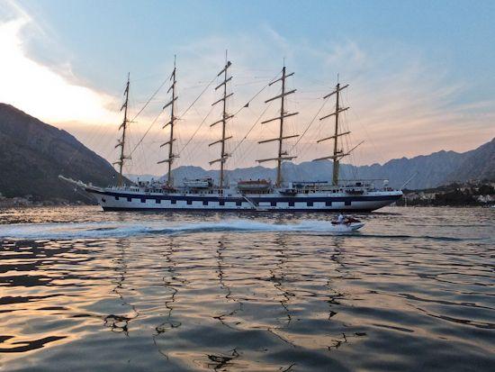 Royal Clipper, Kotor, Montenegro.