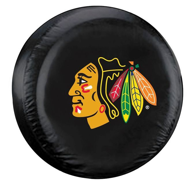 Chicago Blackhawks Black Tire Cover - Standard Size Z157-2324588414