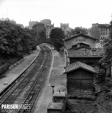 La gare de Ménilmontant. Paris (XXème arr.).