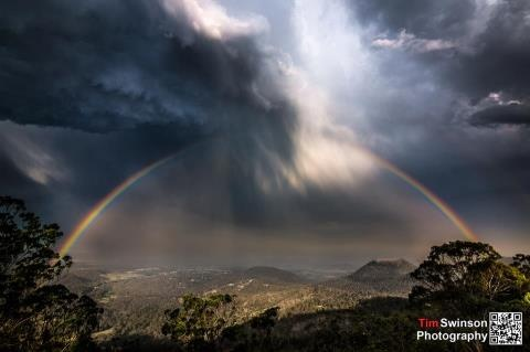 Taken from Picnic Point, Toowoomba   22-11-12