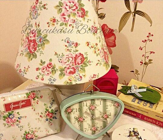 Cath Kidston Fabric Lamp Shade by Burcukusu ...for more details please contact; www.burcukusubutik.com +905324140693