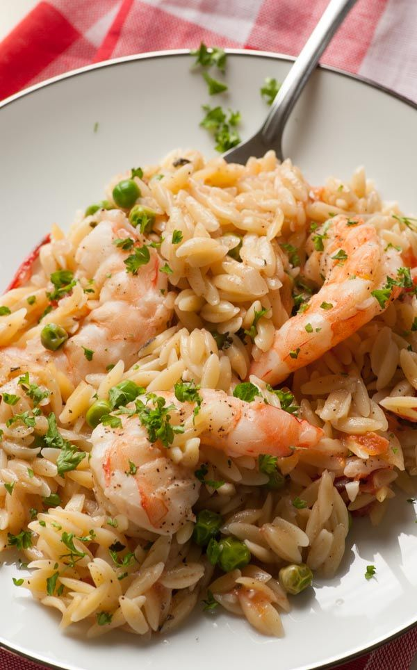 I'm always interested in easy meals. One pan orzo shrimp and tomatoes is one of these. Everything gets cooked in the same skillet and is flavor enhanced by making some shrimp stock from the shrimp shells.      In Minnesota, it is generally hard to find go