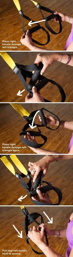 Includes how to tie/convert your TRX straps into single-handle mode to practice wheel pose and other backbends. #fitnesssingles,
