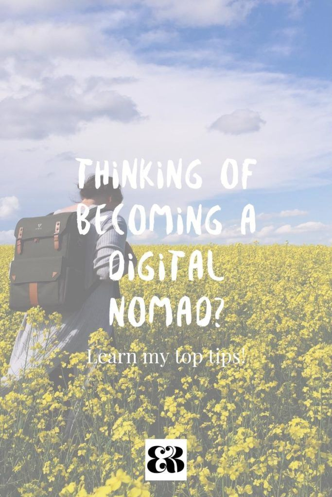 Thinking of becoming a digital nomad? Here are my top tips & suggestions for working online while traveling. #digitalnomad