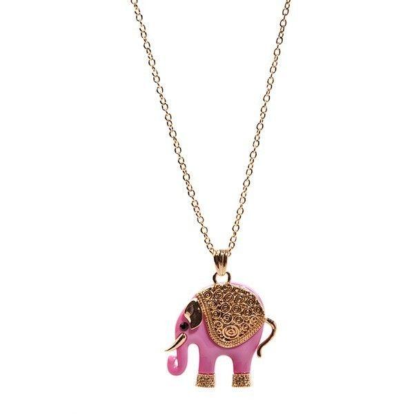 El collar de moda Elephant Sweet está hecho con forma de elefante en rosa vibrante. La cadena, es de color dorado, con cierre tipo mosquetón y ajustable al tamaño de tu cuello, pudiendose llevar en la medida que más te guste y destacando entre todos los collares originales. El colgante está decorado con una original montura de cenefas en relieves de color dorado. Cuenta con una delicada gota de cristal strass color ocre en el lugar de las orejitas y una preciosa piedra color negro en los…