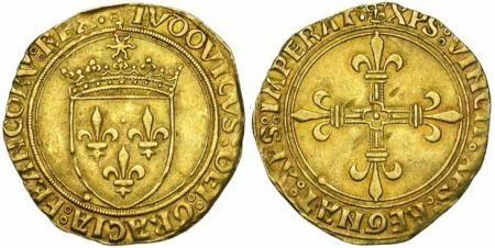 Monnaie de Louis XII. Ecu d'or 1498-1514