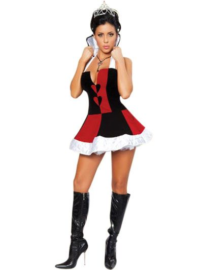 Red Black White Two-Piece Sexy Princess Costume