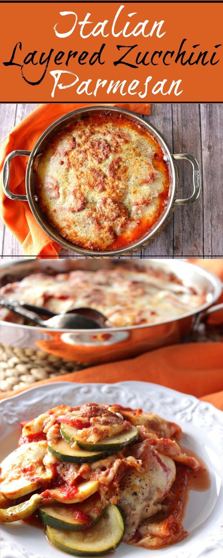 Italian Layered Zucchini Parmesan