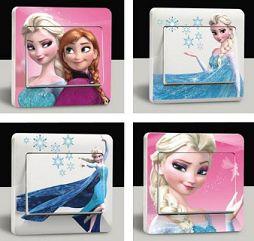 Stickers cartone animato Frozen per interruttore disponibile in 5 varianti. http://s.click.aliexpress.com/e/zvrjmUn