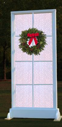 Christmas Window Stage Design Idea from Living Water Baptist Church
