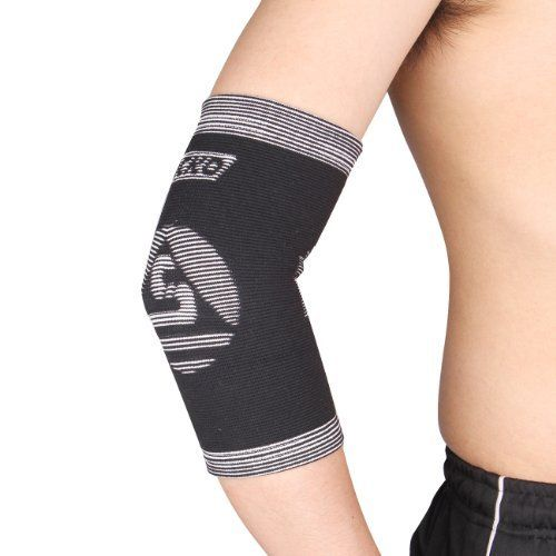 Breathable Elbow Support, Ultra Wrap Elbow Protect, Compression Elbow Brace, Variation Size Choose(fits Left or Right)-k310 (XL(27-31cm), BLACK) by DIY-SPORT. $8.50. Provide muscle support and protection, improve capacity of the elbow. Special designed effectively reduce elbow injuries and joint pain. Size: S(18-21cm) M(21-24cm) L(24-27cm) XL(27-31cm), size chart for elbow perimeter. Unique breathability make skin dry, comfortable wear. Material: Nylon 25% pol...