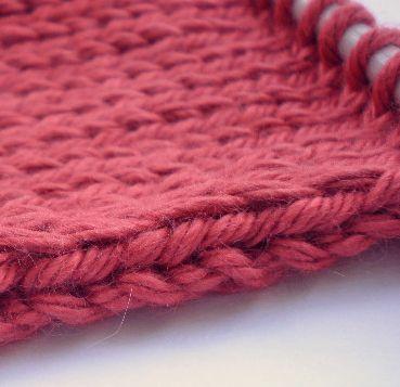 slip stitch edge
