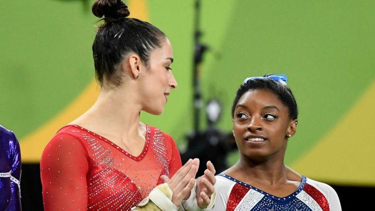 Aly Raisman and Simone Biles 'feud' over Patriots - Texans game  Olympic gold-medal winning gymnasts Aly Raisman and Simone Biles spent the Rio Summer Games as teammates practically joined at the hip, even when they competed against each other in the floor exercise and the all-around competition. #Patriots http://rock.ly/0sl39
