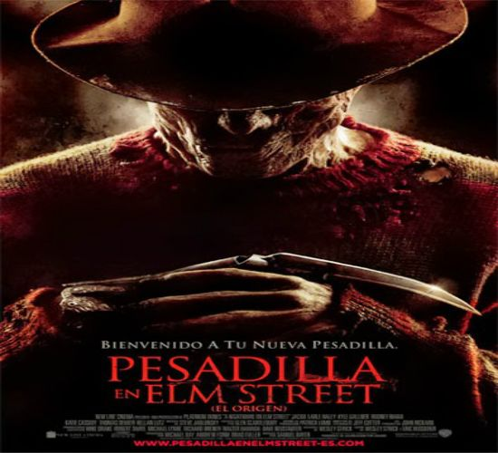 """Pesadilla en la calle Elm 8"" A re-imagining of the horror icon Freddy Krueger, a serial-killer who wields a glove with four blades embedded in the fingers and kills people in their dreams, resulting in their actual death in reality."