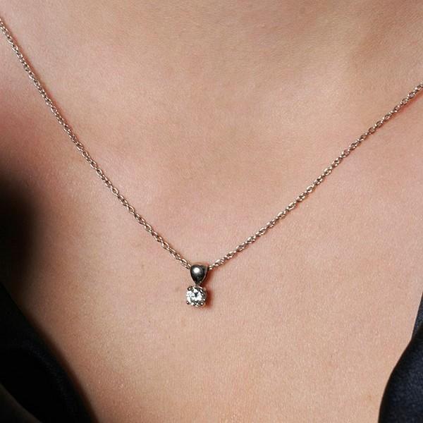 Collier diamant solitaire prix