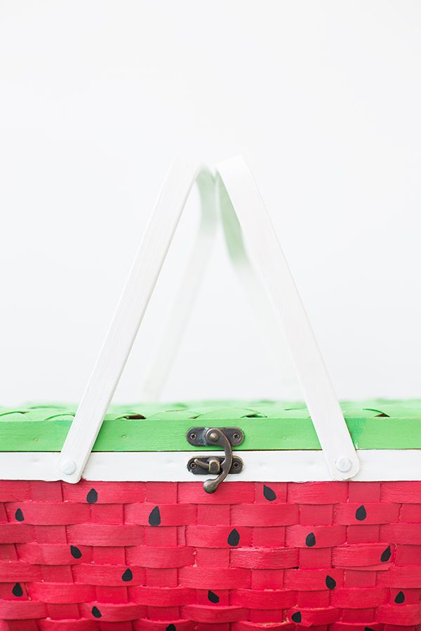 DIY Watermelon Picnic Basket - Pair it with one of our blankets for the perfect outing!