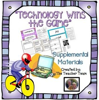 Technology Wins the Game Journeys 3rd Grade Supplemental Materials : Journeys…