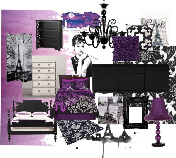 Find This Pin And More On Home Decor Ideas Teen Purple Paris Bedroom