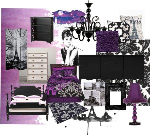 Teen Purple Paris Bedroom