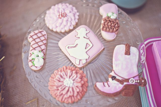 Sweet & Shabby Cowgirl Birthday Party | CatchMyParty.com