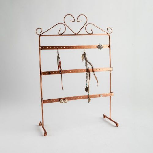 Copper Earring Display Stand