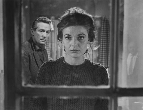 Anne Bancroft and Peter Finch in The Pumpkin Eater (Jack Clayton, 1964)