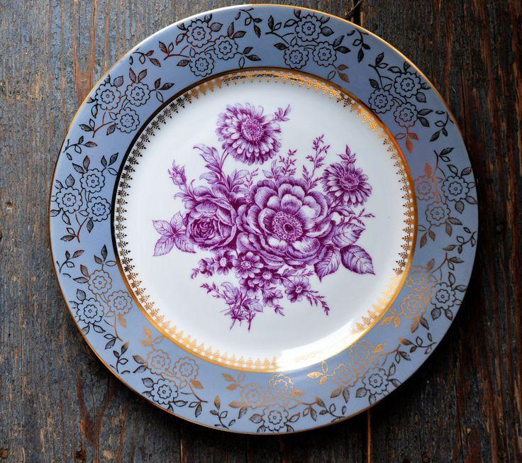 M Z Porcelain Plate  Moritz Zdekauer Czehoslovakia Antique Roses Porcelain Plate (14.00 USD) by ColoursAndSoul