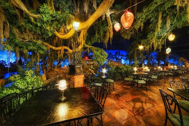 Blue Bayou Restaurant in New Orleans. Located at the beginning of the Pirates of the Caribbean ride. Request a waterside tale