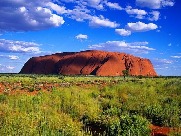 Uluru (Ayers Rock), Australian Outback, it's actually more than 280 miles outside of any significant town (Alice Springs).