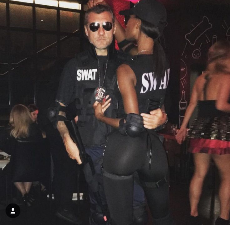 › halloween costumes couples. Jazzma Kendrick and Christian Vieri • Cute interracial couple dressed as SWAT team members for a costume party.