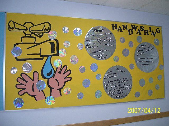 Handwashing bulletin board idea