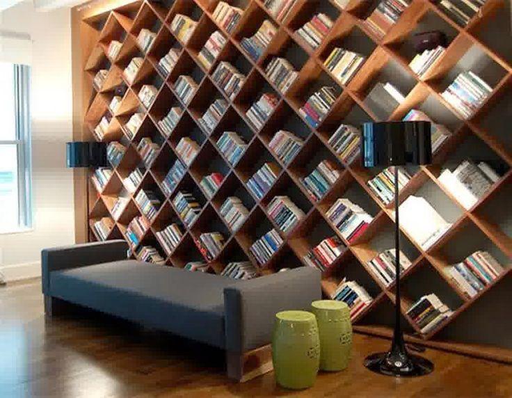 Rak buku gantung minimalis