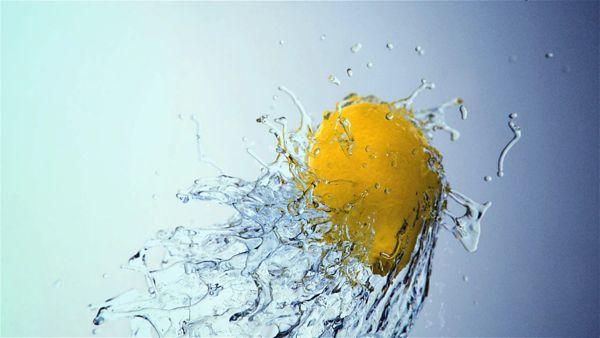 Lemon on water on Behance